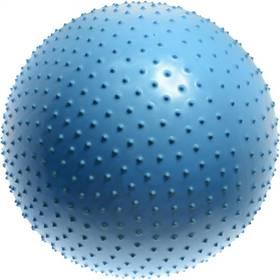 Piłka do masażu Lifefit gimnastyczna MASSAGE BALL 65 cm, niebieski